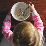 Feeding therapy picky eater child eating cereal